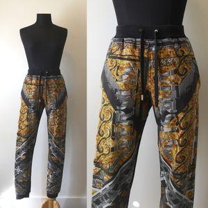 Versace Versus patterned high rise jogging pants